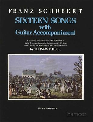 Franz Schubert 16 Songs With Guitar Accompaniment Music Book Same Day Dispatch
