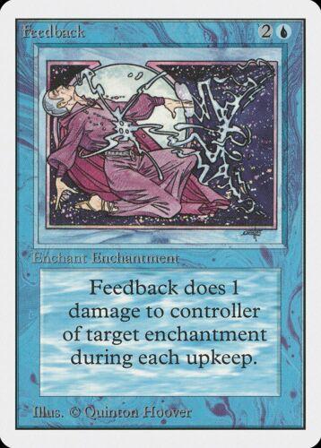 Feedback Unlimited NM Blue Uncommon MAGIC THE GATHERING MTG CARD ABUGames