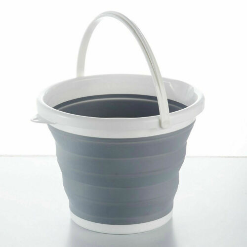 Collapsible Silicon Plastic Bucket Kitchen Camping Garden Folding Water Pail uk