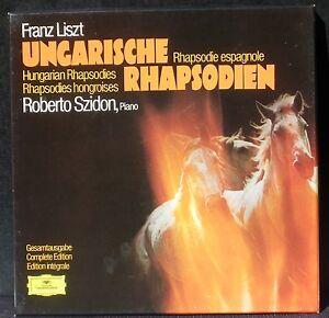 Liszt Rhapsodies hongroises Ungarische rhapsodien Roberto Szidon 3 x LP & BX NM