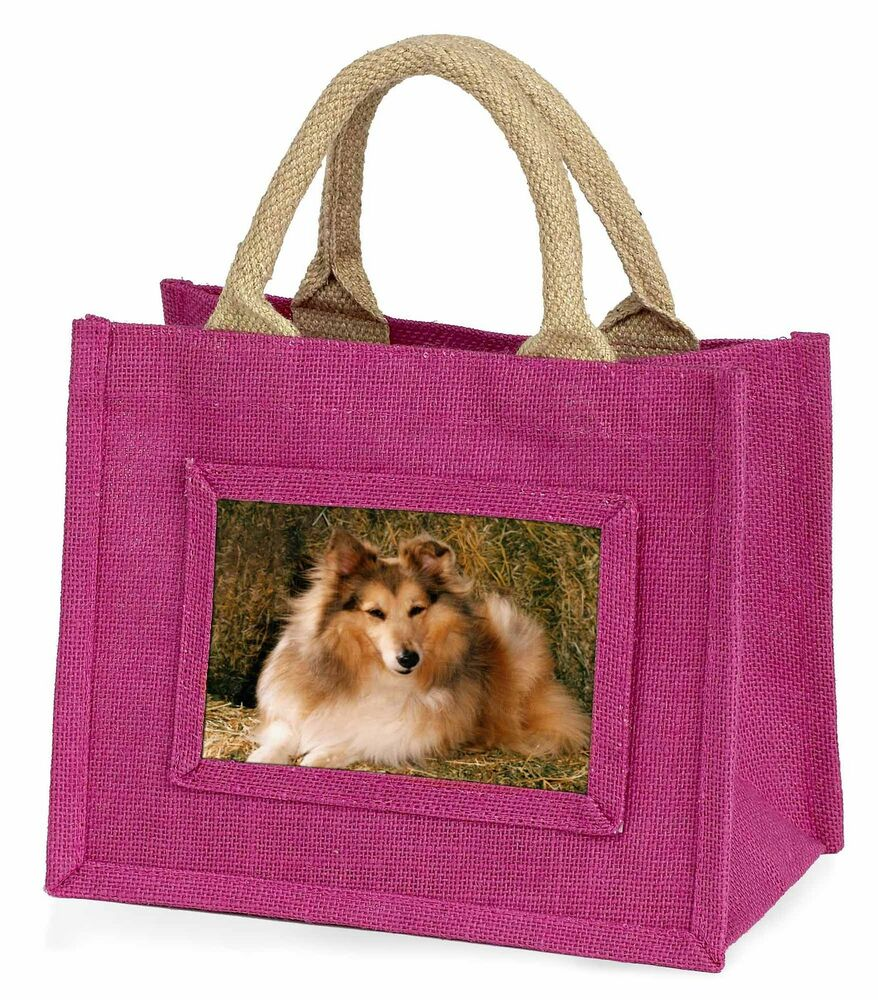 Brillant Sheltie On Hay Bale Little Girls Small Pink Shopping Bag Christmas G, Ad-se55bmp Large SéLection;