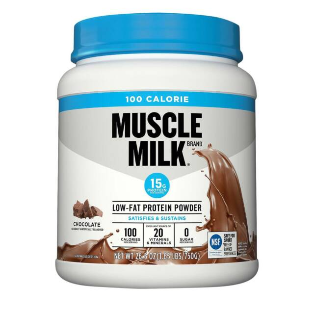 Muscle Milk 100 Calorie 25 Svgs Protein Powder Chocolate 1.65 LBS