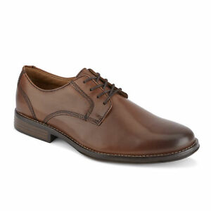 G.H. Bass & Co. Mens Hughes Leather Plain Toe Oxford Shoe