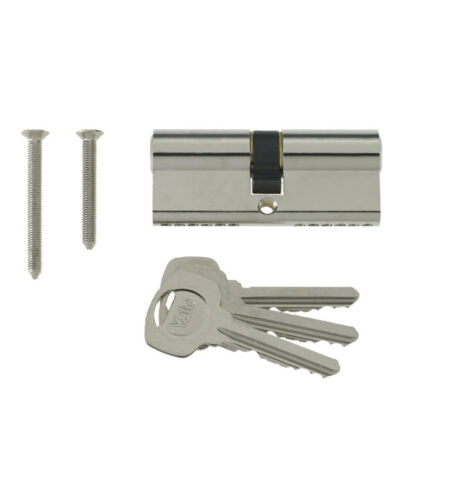 Yale 6 Pin Euro Profile Cylinder Lock Nickle 40//45 c//w 3 Keys 85mm