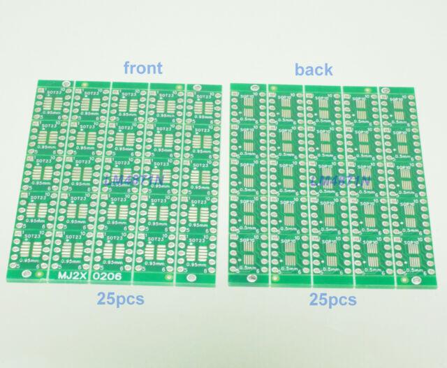 25pcs IC SOT23 SSOP10 MSOP10 UMAX to DIP 0.5/0.95mm Adapter PCB Board Converter