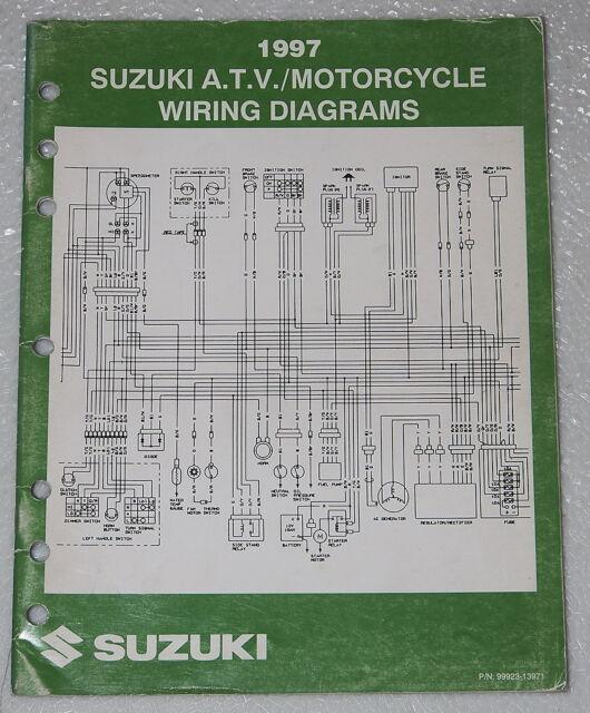 1997 Suzuki Motorcycle Atv Wiring Diagrams Manual
