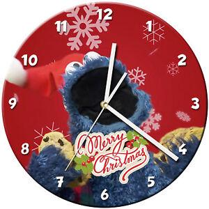 Dettagli su Natale Vetro Orologio da Parete Impara Regalo Camera da Letto  Gioco Bambini - 04