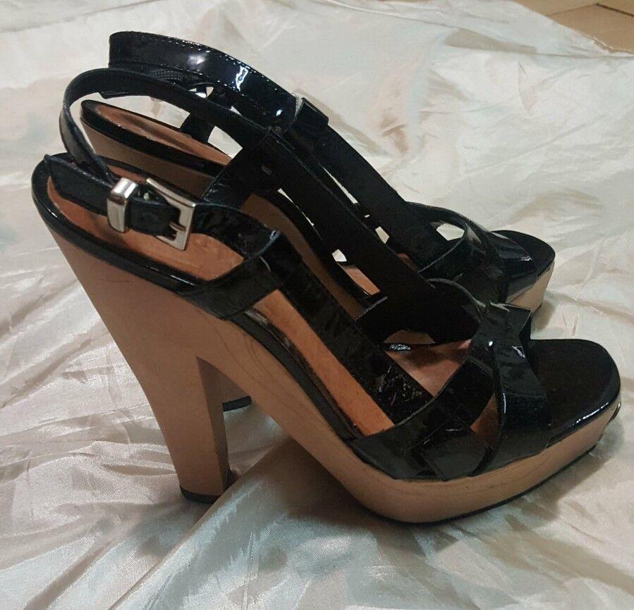 SCHUTZ scarpa 37 shoes donna girl size 37 scarpa pelle leather  nero nero 6b65a6