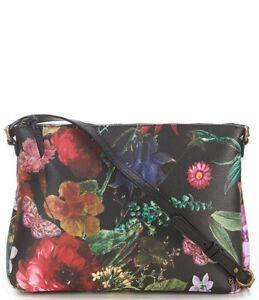 NWT Elliott Lucca Mari Medium Crossbody Bag Black Autumn Botanica ... 8497162d2d502