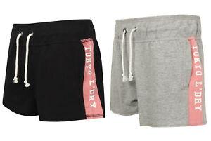 Tokyo-Laundry-Ladies-Womens-Loopback-Fleece-Sweat-Shorts-Grey-or-Black