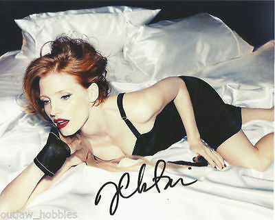 Photographs Genteel Jessica Chastain Sexy Autographed Signed 8x10 Photo Coa #5 Convenient To Cook Entertainment Memorabilia