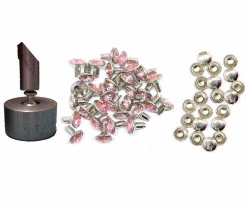 10mm Rivetti Strass impostazione Hand Tool morire con acrilico Rivetti diamante UK