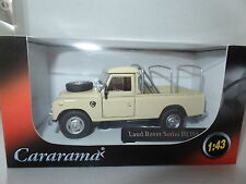 "Cararama  1/43 O Scale Land Rover Series III 109"" Desert Sand Beige with Frame"