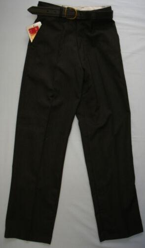 Da Uomo Ragazzi Bambini Nero GABARDINA Smart Scuola Formale Pantaloni Pantaloni Tasche Zip