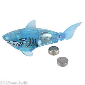 Random battery powered robot fish shark electronic fish for Robot fish toy
