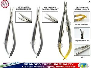 Micro-Surgery-Spring-Scissors-Castroviejo-Needle-Holder-Ophthalmic-Suturing-Kits