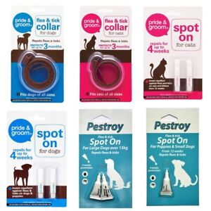 Spot On Flea And Tick Dog Puppy Small Dog Cat Kitten Pet Home Bed Treatment UK
