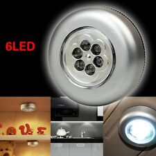 5 PCS Round 6LED Tap Touch Lamp Cabinet Hiking Camping Stick On Night Light 66