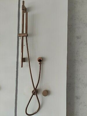 Polished rose gold copper shower head 200 mm set wall arm WELS progressive mixer