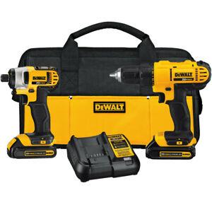 DEWALT-20V-MAX-Li-Ion-Drill-Driver-and-Impact-Driver-Kit-DCK240C2-New