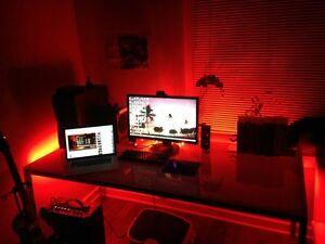 Image Is Loading Gaming Computer Desk Led Lights Office Home Light