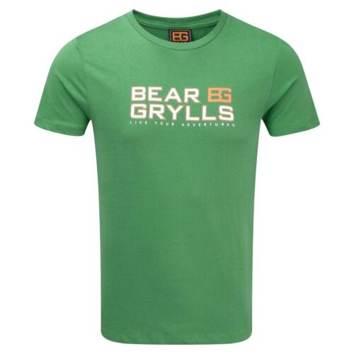 Bear Grylls Printed T-shirt Mens 100/% Cotton Short Sleeve Top