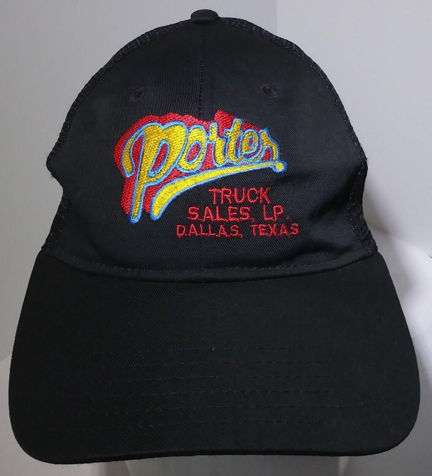 Porter Truck Trucker Sales Dallas Texas Embroidered Trucker Truck Mesh Snapback Black Cap c2940c