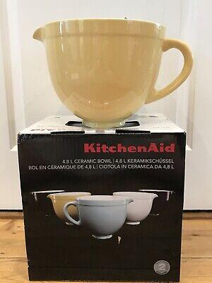 Kitchen Aid Mixer Ceramic Batter Bowl Majestic Yellow Attachment Accessory Bnib Ebay