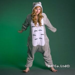 Image is loading Unisex-Adult-Totoro-Kigurumi-Pajamas-Grey-Cosplay-Costume- b08a5ca8e