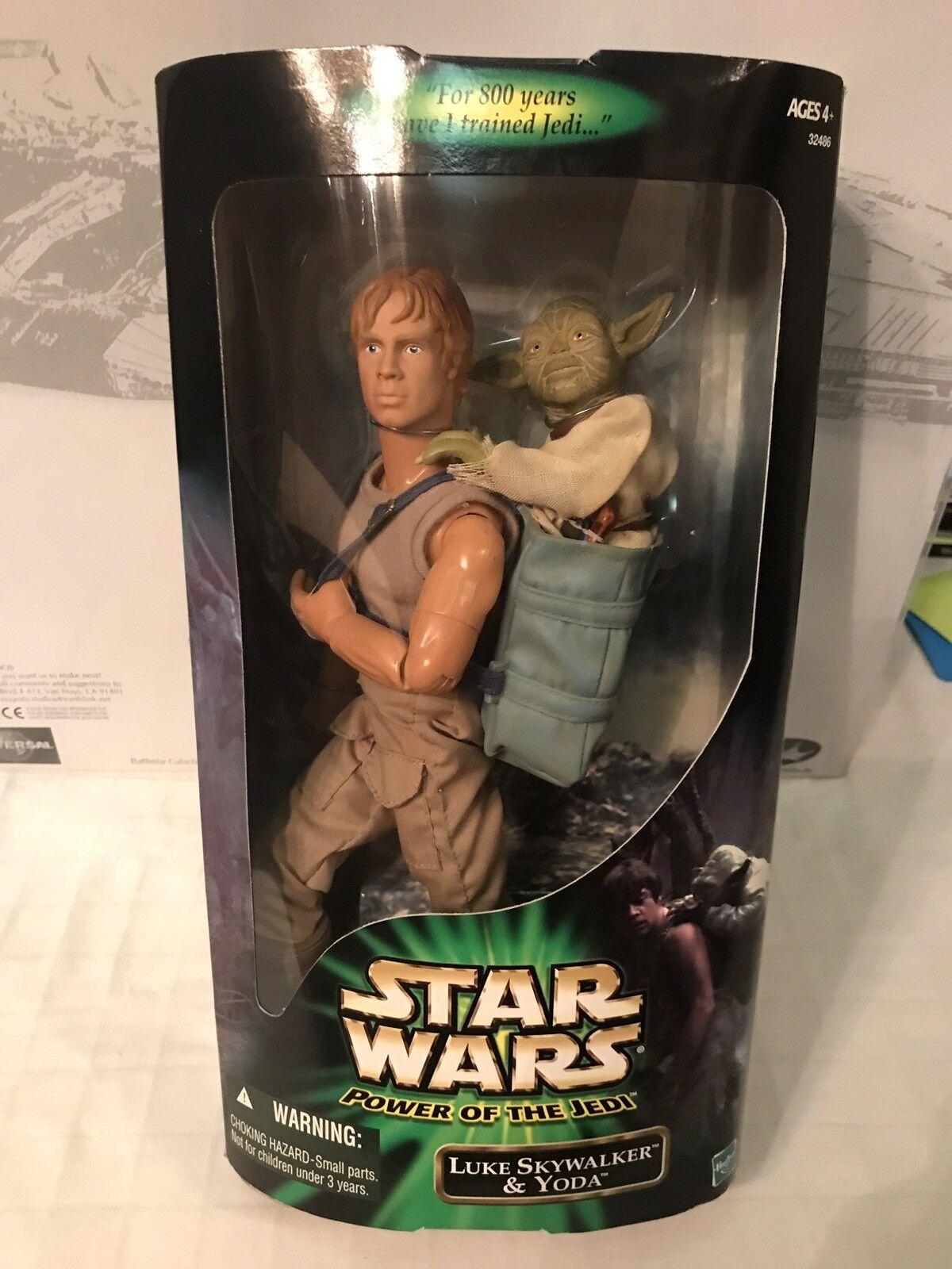 Star Wars Power Power Power Of The Jedi Luke Skywalker & Yoda d7309b