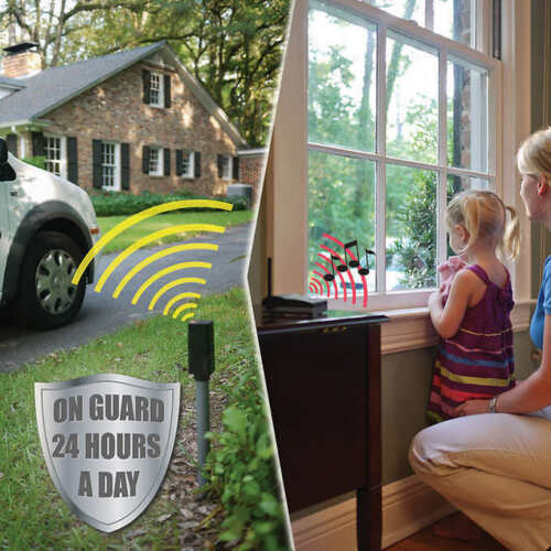 Mighty Mule Wireless Driveway Alarm with 2 Base Stations Range of up to 400/'