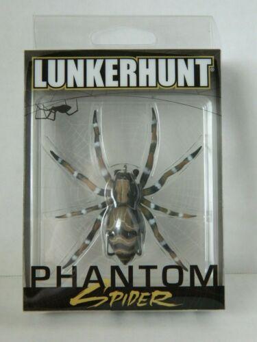 New 1//4oz Dock Fish Lure Lunkerhunt Phantom Spider Top Water Action 2in