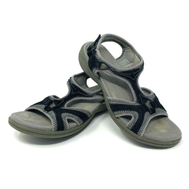 dolor de muelas Viaje descuento  Clarks Women's Size 6.5 Black Gray in Motion Slingback Walking Sandals  60435 for sale online | eBay