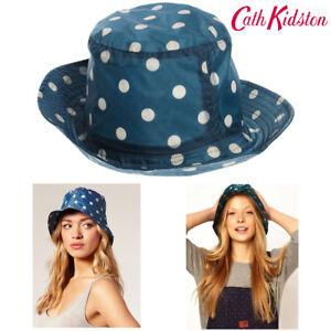 Cath Kidston Hat Spot Navy Blue Rain Hat One Size Showerproof 0S1651 ... c112895fd2e