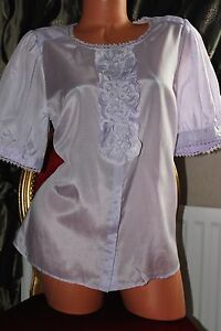 Top Blouse Ladies Monsoon 16 Lilac Silk Size Blend IwXwUqnf