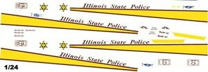 Illinois State Police 1//25th 1//24th Scale Waterslide Decals