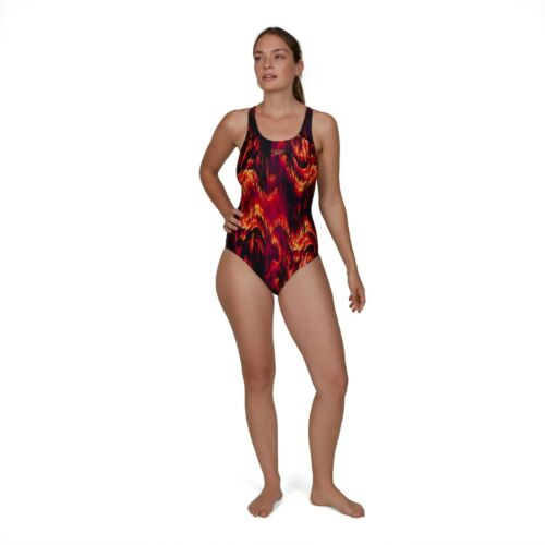 SPEEDO WOMENS SWIMSUIT.ECO RECYCLED POLYESTER COLOURWILD SWIMMING COSTUME S20 64