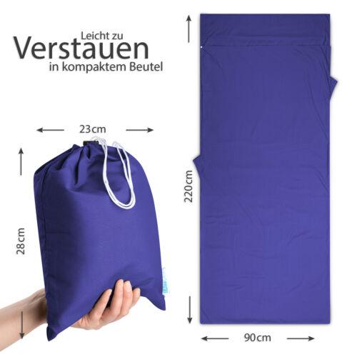 Eazy case microfibra saco de dormir hüttenschlafsack viaje mantas para dormir saco azul