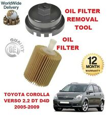 FOR TOYOTA COROLLA VERSO 2.2 D4D 2005-2009 OIL FILTER & OIL FILTER REMOVAL TOOL