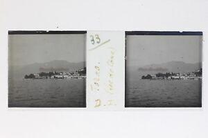 Italia-Torno-Lago-Di-Como-Foto-Stereo-T2L9n78-Placca-Da-Lente-Vintage
