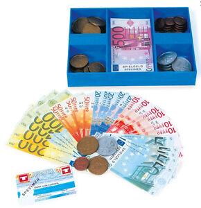 Spielgeld Euro Münzen Und Scheine Mit Kassette Kaufladen
