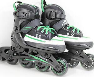 Gelegenheit-Turnschuh-Inline-Skates-KIDS-blackstyle-weiss-gruen-29-32-11635