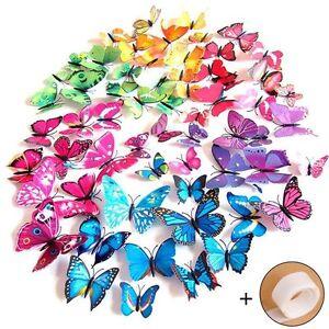Farfalle decorative colori assortiti farfalle 3d per for Farfalle decorative per muri