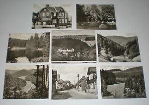 Hochglanz-Fotos-Neustadt-am-Rennsteig-9x7-5-1968-Kleinbildmappe-Bilder-DDR-Karte