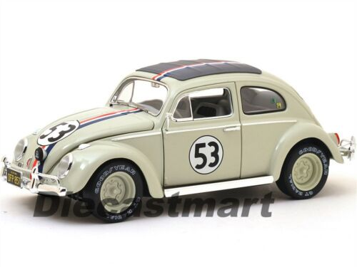 Elite 1963 Volkswagen Beetle Herbie Goes To Monte Carlo #53 1:18 Hotwheels BLY22