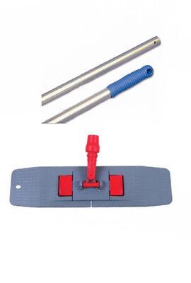Mopptex Alustiel Griff blau für Klapphalter Mopphalter Mophalter Stiel 140 cm