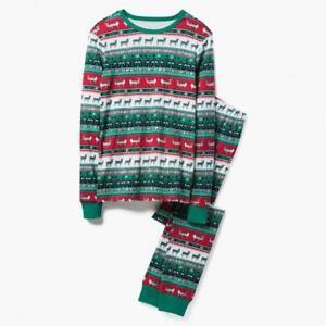 NEW Gymboree Christmas Reindeer Fair Isle Green Pajama Gymmies Dad Adult Men