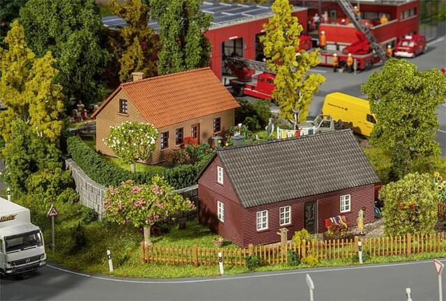 Faller x 2 Brick Built Cottages 130507 HO Scale (suit OO also)
