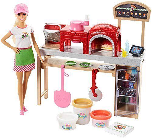 Barbie FHR09 Pizza Chef Muñeca y Conjunto de juego, MultiColor