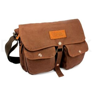 Details about Men s Vintage Canvas Leather Shoulder Bag Messenger Travel  School Briefcase Bag 64d9dd1aa8b98